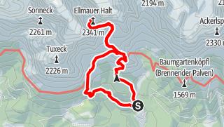 Map / Ellmauer Halt 2344 m, der Höchste im Wilden Kaisers