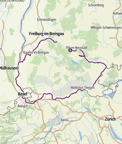 Map / Südschwarzwald-Radweg