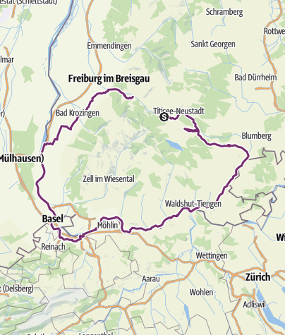 Südschwarzwald Karte.Südschwarzwald Radweg Fernradweg Outdooractive Com