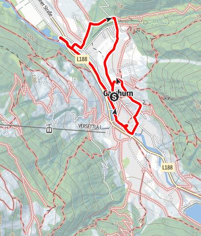 Karte / Kinderwanderweg Gaschurn