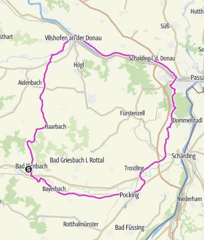 Karte / Drei Flüsse-Tour Nr.10