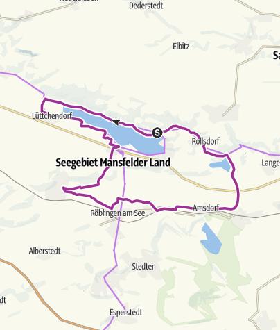 Karte / Rund um den Süßen und Salzigen See