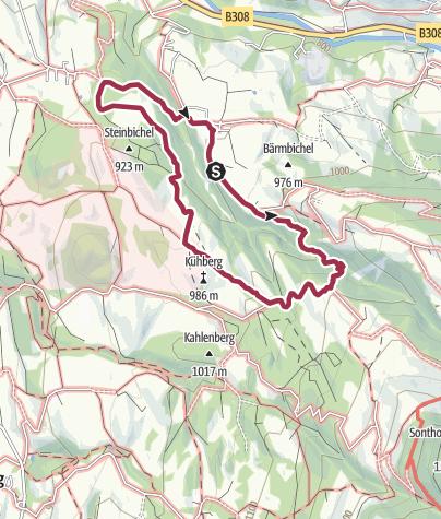 מפה / (Winter-) wanderung Imberg - Sonthofer Hof - Löwenbachtobel