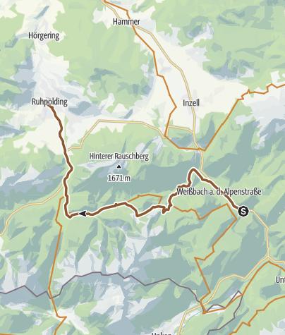 Karte / Weißbach - Ruhpolding