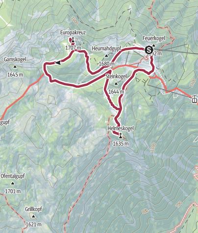 Karte / Feuerkogel Albernfeldkogel Helmeskogel Rundtour