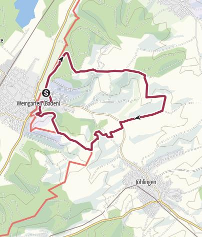 Karte / Rundwanderung zum Sohl-Sallenbusch über Kirchberg 12km