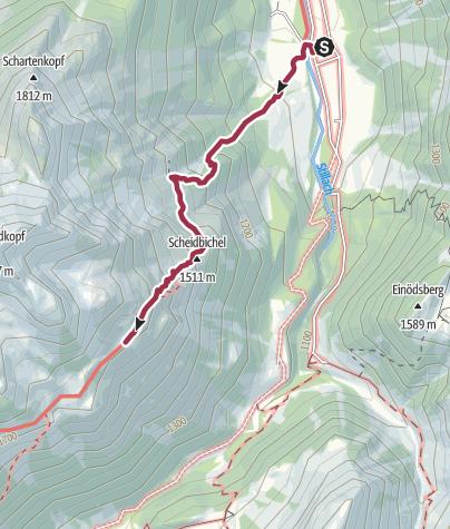 Karte / Birgsau - Guggersee