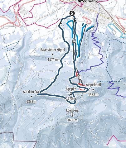 Mapa / Skitour über Bayerstetten auf die Alpspitz