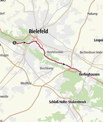 Karte / Etappe 1 Hermannsweg