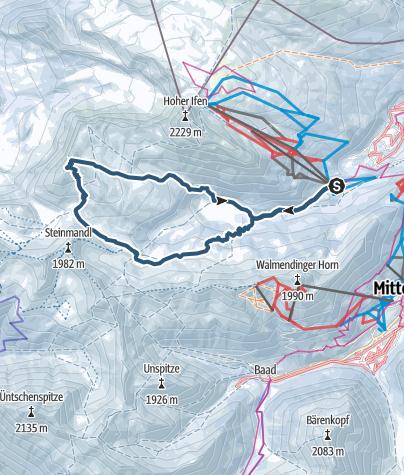 Karte / Von der Ifenbahn über die Schwarzwasserhütte auf den Hählekopf