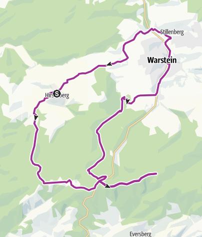 Karte / SMV 4 Hirschberg-Lörmecketurm-Runde