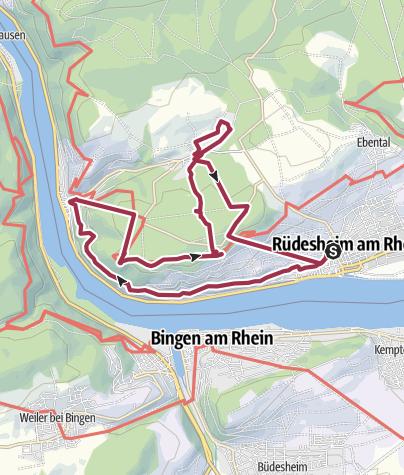 Karte / Rheingauer Seilbahnen - über den Reben schweben