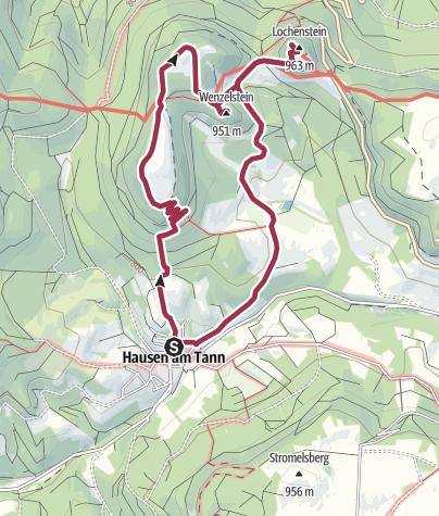 Karte / Hausen am Tann - Schafberg - Lochenstein - Oberhausen  - Hausen am Tann