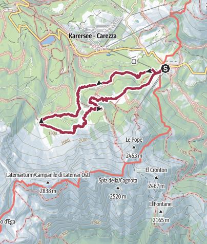 Map / Felsenlabyrinth Latemar