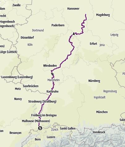 מפה / eBike2Braunschweig (Basel-Braunschweig)