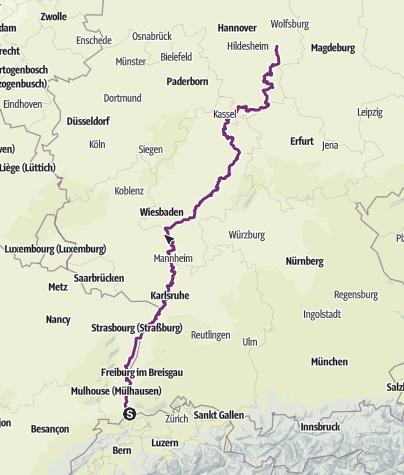 Карта / eBike2Braunschweig (Basel-Braunschweig)