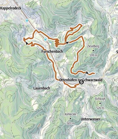 Karte / Dorfbrunnenfestlauf Strecke Walker