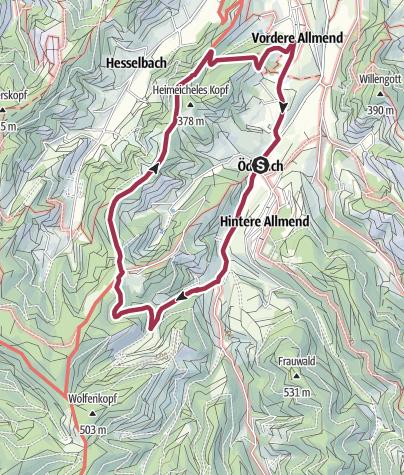 Karte / Oberkirch-Ödsbach Rundwanderweg 8 Km