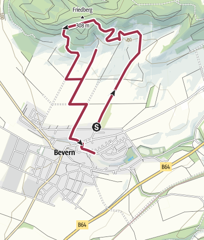 Karte / BevernBurgberg