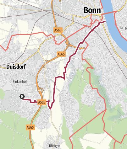 Cartina / Vom Hardtberg zum Rhein in Bonn