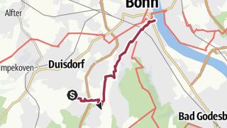 Karte / Vom Hardtberg zum Rhein in Bonn