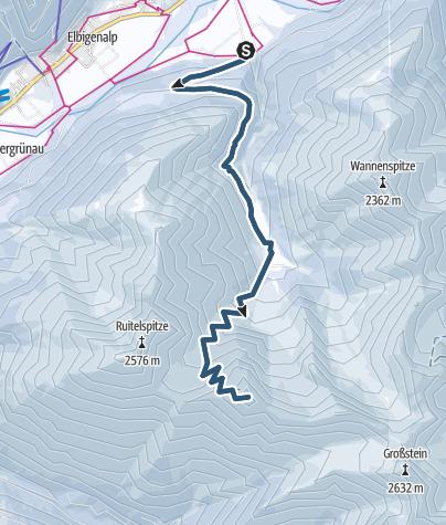 Karte / Zwölferspitze (Elbigenalp)