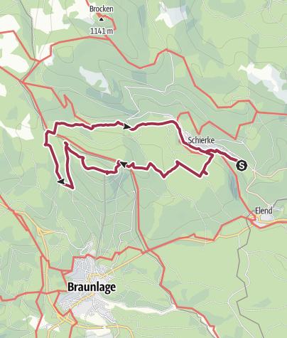 Karte / Schierke-Wurmberg-Schierke