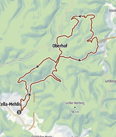 Karte / Zella-Mehlis Lütschestausee Oberhof Zella-Mehlis
