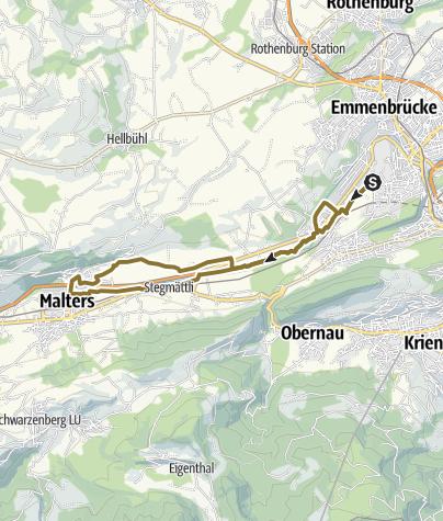 Karte / Littau-Malters und zurück