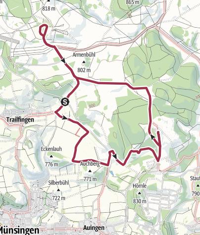 Karte / Truppenübungsplatz Münsingen mit Gruorn