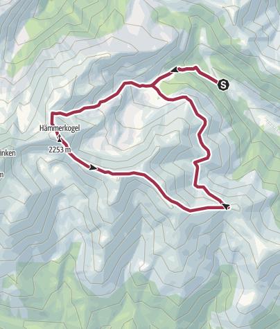 Karte / Bodenhütte - Hämmerkogel - Bodenhütte