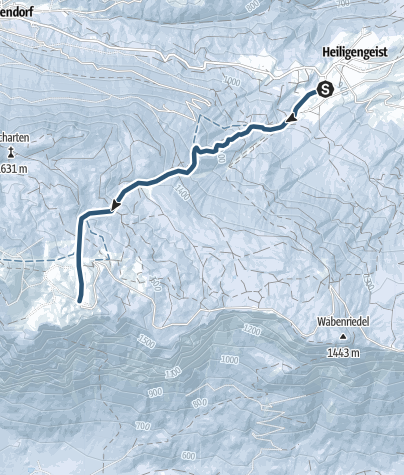 """Map / Ski tour in the Dobratsch Nature Park - The classic """"lookout tour"""" from Heiligengeist to Rosstratte"""