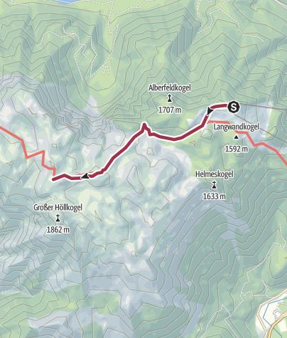 Karte / Feuerkogel Riederhütte eine Richtung