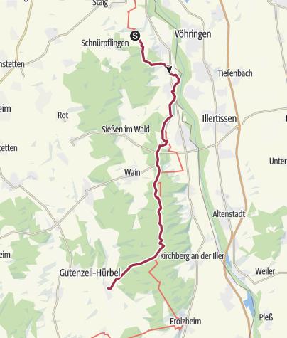 Karte / Dorndorf -  Gutenzell Route 1
