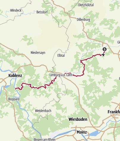 Karte / Lahn-Camino