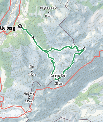 Karte / Mindelheimer Klettersteig