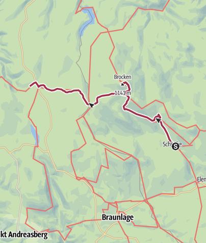 Karte / Nordharz in 3 Tagen - Tag 2
