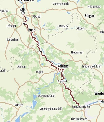 Karte / Linksrheinischer Jakobsweg