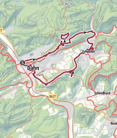 Karte / Dahn Rundtour über Erfweiler und Altdahn
