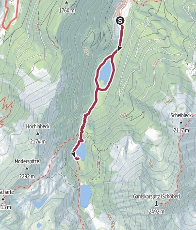 Karte / Zur Hans-Wödl-Hütte und zurück