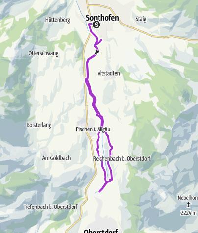 Karte / Allgäu Panorama Marathon - HALBMARATHON-Strecke