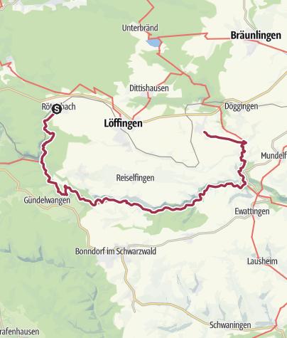Karte / Drei Schluchtenwanderung