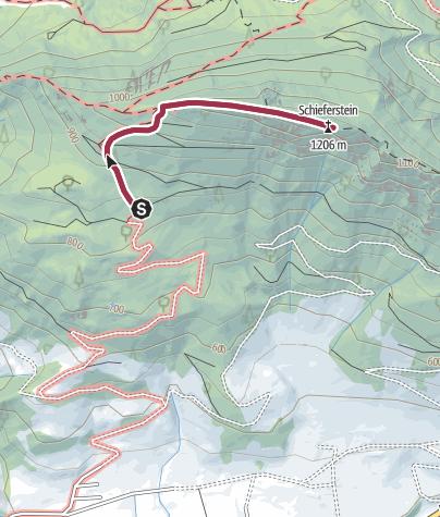 Karte / Schöne Gratwanderung