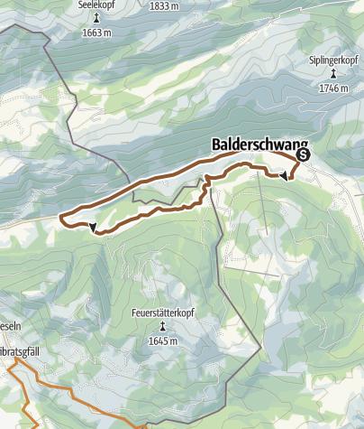 Karte / Balderschwang - Sippersegg Runde