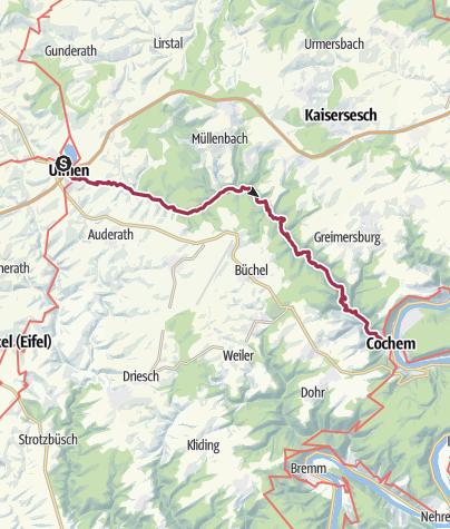 Karte / Durch das wilde Tal der Endert