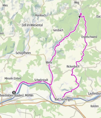 Karte / Rheinfelden-Wehrhalden-Wehratal-Rheinfelden