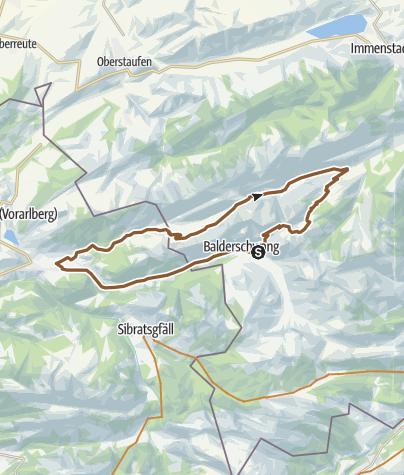 Karte / Balderschwang - Lecknertalrunde