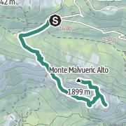 Hartă / Monte Malvueric Alto (deutsche Bezeichnung  Malurch) 1.899 m