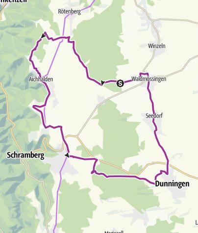 Carte / Waldmössingen-Flugplatz Winzeln-Rötenberg-Aichhalden-Sulgen-Beschenhof-Dunningen-Seedorf-Waldmössingen