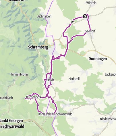 Karte / Waldmössingen-Heiligenbronn-Brambach-Hutneck-Hardt-Königsfeld-Buchenberg-Hardt-Hutneck-Seedorf-Waldmössingen